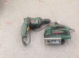 Bosch drill and jigsaw