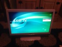 "Pink 23"" TV with built in DVD player"