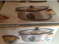 NEW Silvercrest Slow Cooker 3l