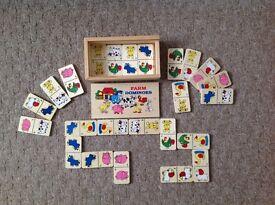 Children's Wood Dominoes.
