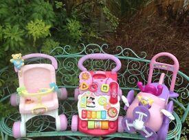 Pushchair, Walker, Pink aeroplane for batteries