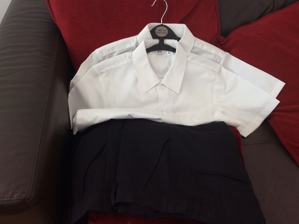 Boys school trousers and shirt