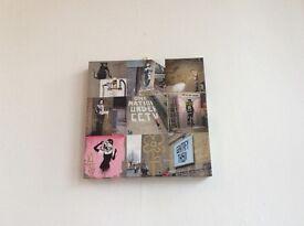 2 Banksy Canvas Prints (35cm x 35cm) - Great Condition!