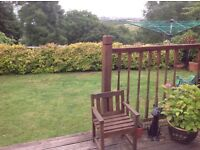 Decking spindles, newly, hand and base rails to enclose approx 22ft
