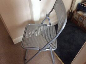 Folding Chair ----Metal silver coloured