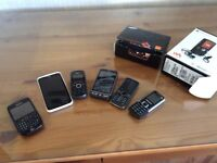 Various selection of old mobile phones