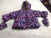 Marks and Spencer Baby Girl Winter Coat 6-9 Months