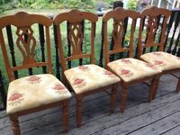 4 beautiful chairs