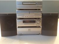 Denon Stereo music system with Kef Speakers and full instruction booklets.