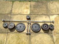 Cast weights 65 kg barbell and dumbbell set