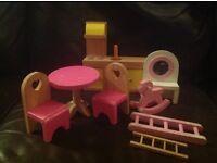 Dolls house furniture wood