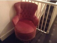 Lovely pink boudoir chair vgc only £5