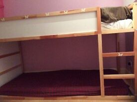 Ikea reversible bed, like new, can be used as bunk bed too