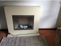 Modern electric fire surround suite.