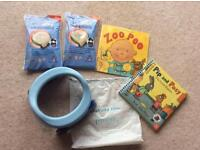 Travel / folding potette plus, liners and toilet training books