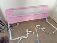 Lindum bed guard toddler rail pink