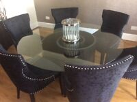 Tom Schneider dining room table, console table and 6 chairs