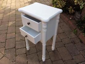 Shabby chic bedside painted