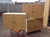 Medium Oak kitchen units