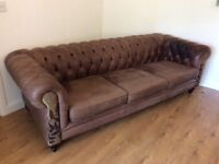 4 seater bespoke leather sofa, open to offers but needs to be collected 20.1.18