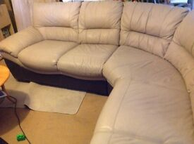 Two tone corner sofa very good condition
