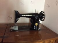 1954 Singer Sewing Machine Electric built into a Walnut table - Fully working