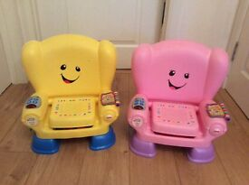 Fisherprice talking chairs x 2. Ideal for twins!