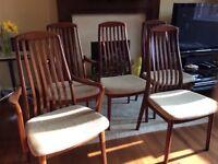 Mid Century Teak Danish dining chairs