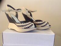 Nine West Ladies Leather Wedge Heels