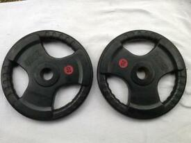 4 x 20kg Bodymax Tri-Grip Olympic Rubber Weights