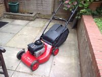 Petrol Lawnmower. Briggs & Stratton engine. Starts first time. Runs well. Good condition