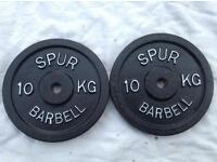 4 x 10kg Spur Standard Cast Iron Weights