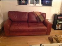 Two Italian leather sofas for sale