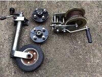 Trailer/Boat jockey wheel,hubs and Ratchet winch
