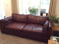 Very comfy good quality leather sofa
