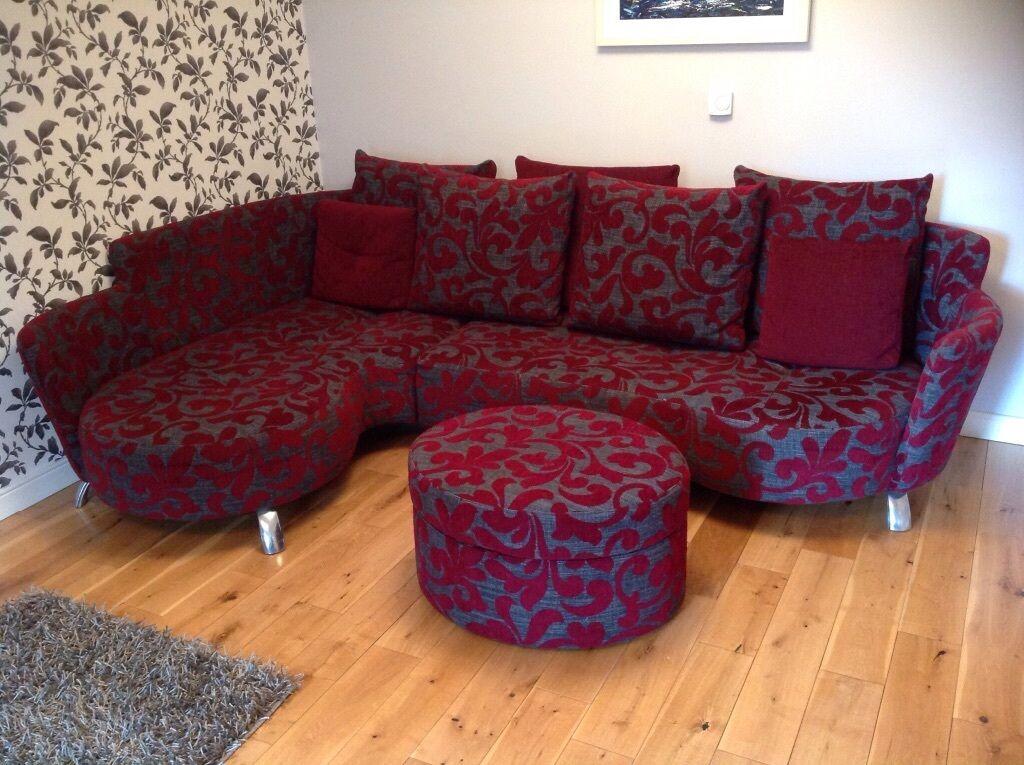 Italian Made Corner Sofa Reclining Swivel Chair Amp Storage