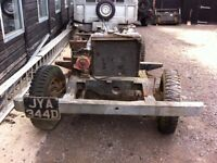 LAND ROVER SERIES 2a 1966 ROLLING CHASSIS, ENGINE, BOX & AXLES WITH V5 LOGBOOK