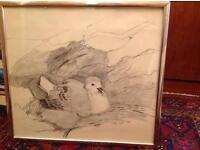Original Meg Telfer framed sketch