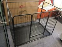 Heavy Duty Whelping Puppy Play Pen Crate / Rabbit Hutch Enclosure with Floor Large 125x80x90 cm