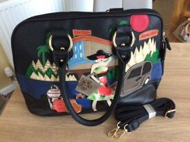 Unusual Themed Leather Bag.