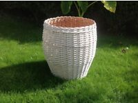 Huge Willow Wicker Basket White. Laundry Hamper. Laundry Basket. Toy Basket. Conservatory Plant Pot.