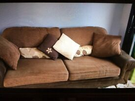 Reduced price!! Excellent condition three piece sofa - can sell as separate pieces