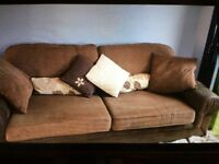 Excellent condition three piece sofa - can sell as separate pieces