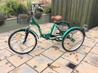 """Adult electric tricycle Brand New Jorvik Electric Tricycle 26"""" Wheels"""