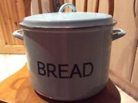 Large enamel bread bin by judge