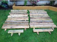 Garden Wooden Edging /Log Roll