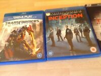 Selection blu Ray DVDs