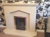 For sale marble surround with gas fire.