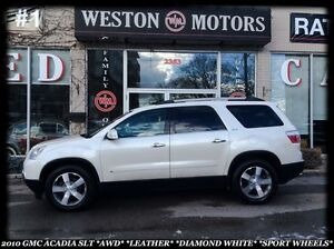 2010 GMC Acadia SLT1 *AWD *DIAMOND WHITE *SPORT WHEELS *LEATHER