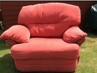 Three piece suite, reclining, good condition